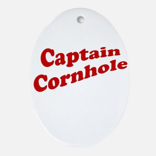 Captain Cornhole Ornament (Oval)