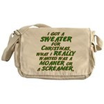 Sweater Messenger Bag