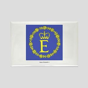 Queen Elizabeth II Flag Rectangle Magnet