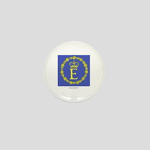 Queen Elizabeth II Flag Mini Button