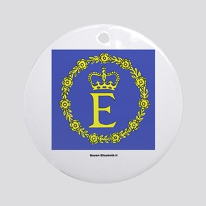 Queen Elizabeth II Flag Ornament (Round)