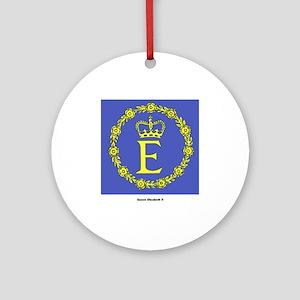 Queen Elizabeth II Flag Ornament (Round)