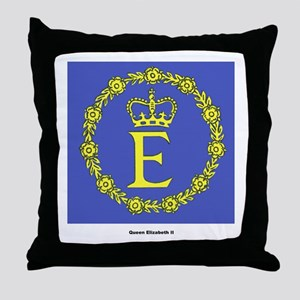 Queen Elizabeth II Flag Throw Pillow