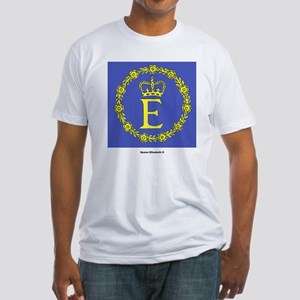 Queen Elizabeth II Flag (Front) Fitted T-Shirt
