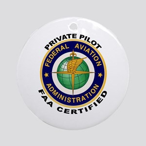Private Pilot Ornament (Round)