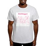 Bulldogger Pink/Ash Grey T-Shirt