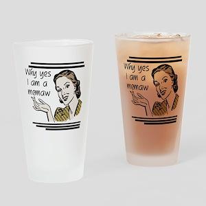 Retro Memaw Drinking Glass