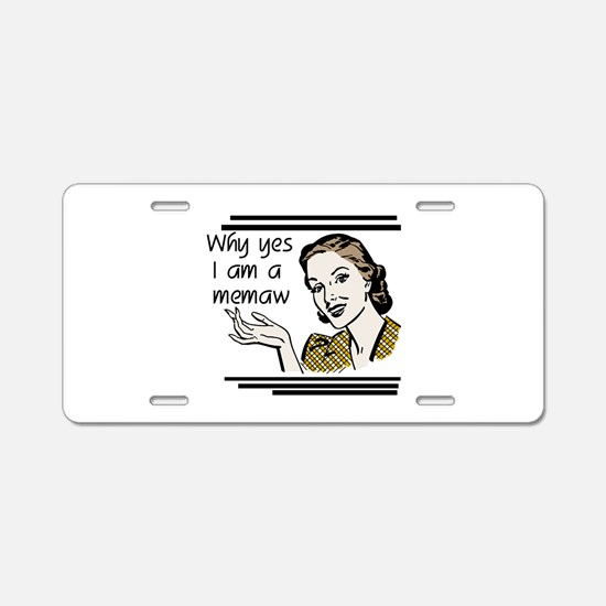 Retro Memaw Aluminum License Plate