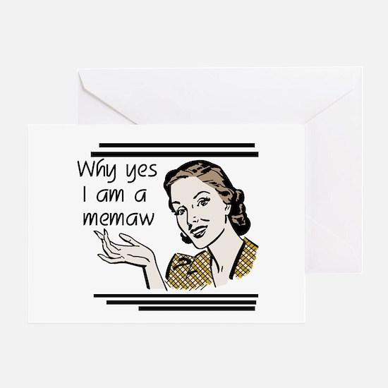 Retro Memaw Greeting Card