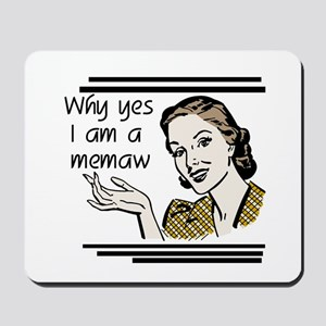 Retro Memaw Mousepad