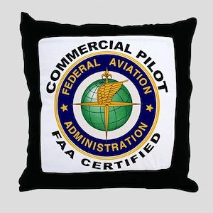 Commercial Pilot Throw Pillow