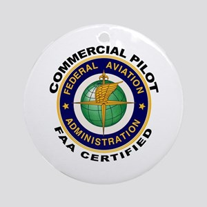 Commercial Pilot Ornament (Round)