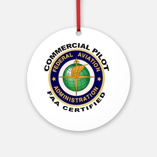 Commercial Pilot Ornament (Round)