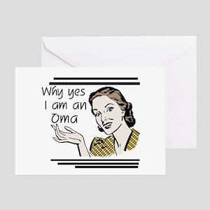 Retro Oma Greeting Card