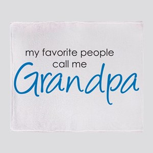Favorite People Call Me Grand Throw Blanket