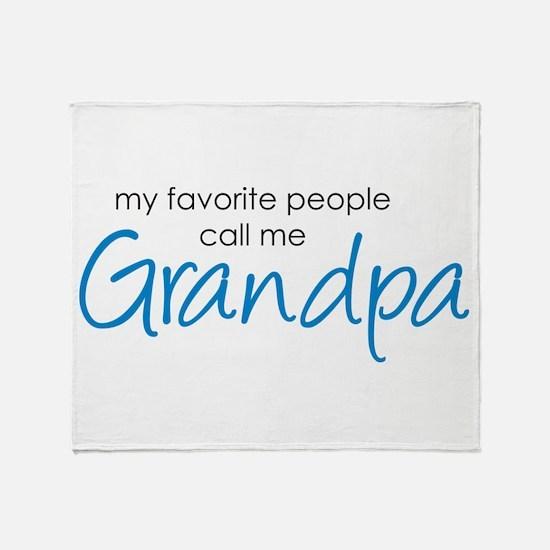 Favorite People Call Me Grand Throw Blanket