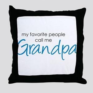 Favorite People Call Me Grand Throw Pillow