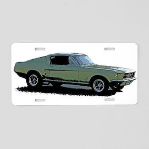 67 Mustang 4 Aluminum License Plate