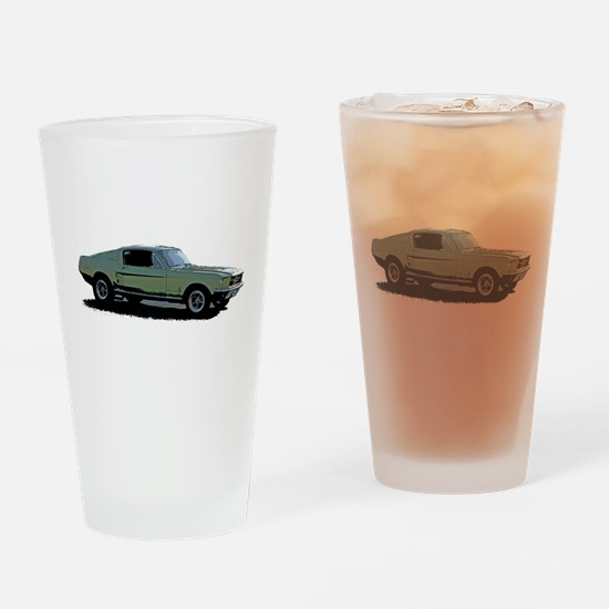 67 Mustang 4 Drinking Glass