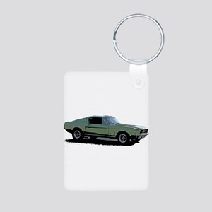 67 Mustang 4 Aluminum Photo Keychain