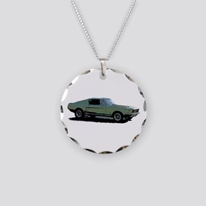 67 Mustang 4 Necklace Circle Charm