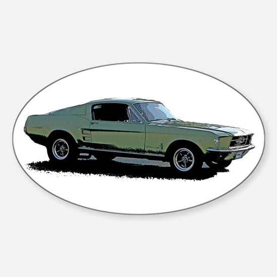 67 Mustang 4 Sticker (Oval)