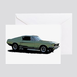 67 Mustang 4 Greeting Card