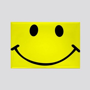 Smiley Yellow Rectangle Magnet