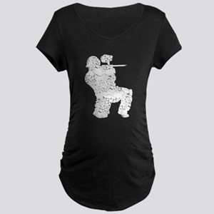 Worn, Vintage Paintball Maternity Dark T-Shirt