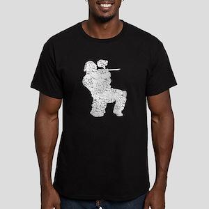 Worn, Vintage Paintball Men's Fitted T-Shirt (dark