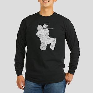 Worn, Vintage Paintball Long Sleeve Dark T-Shirt