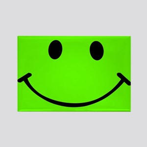 Smiley Green Rectangle Magnet