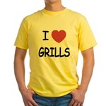 I heart grills Yellow T-Shirt
