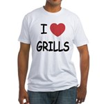 I heart grills Fitted T-Shirt