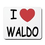I heart waldo Mousepad