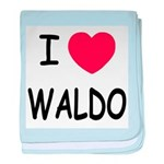 I heart waldo baby blanket
