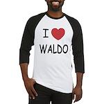I heart waldo Baseball Jersey
