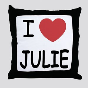 I heart julie Throw Pillow