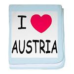 I heart austria baby blanket