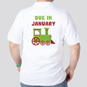 Christmas Train January Golf Shirt