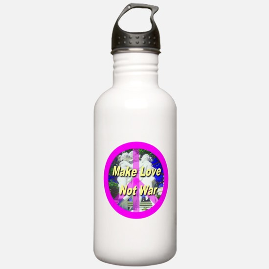 Make Love Not War Water Bottle