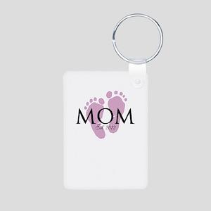 New Mom Customizable Year Aluminum Photo Keychain