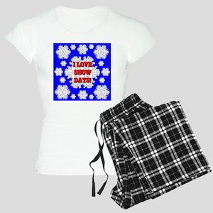 I LOVE SNOW DAYS Women's Light Pajamas