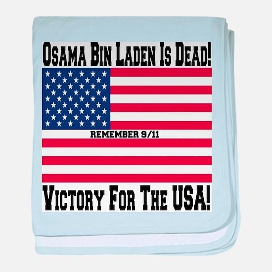 Osama bin Laden Is Dead baby blanket