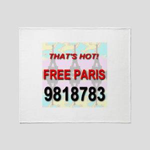 That's Hot Free Paris 9818783 Throw Blanket