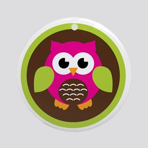 Grandkids Owl Ornament (Round)