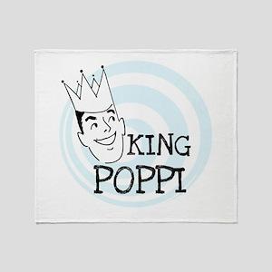 King Poppi Throw Blanket