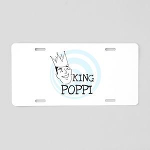 King Poppi Aluminum License Plate