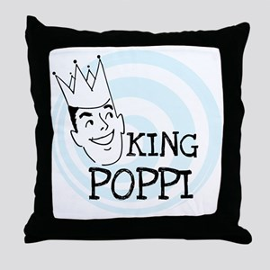 King Poppi Throw Pillow