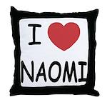 I heart naomi Throw Pillow